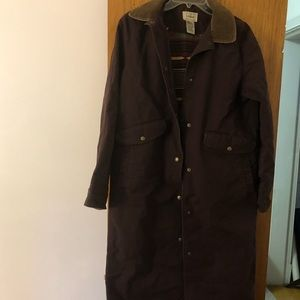 LL Bean Brown Long Coat Women's sz XS Petite